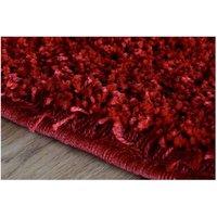 Moderní kusový koberec SHAGGY COLOR - červený