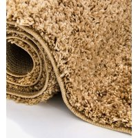 Moderní kusový koberec SHAGGY COLOR - karamelový