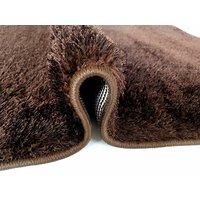 Kusový koberec SHAGGY TOP - hnědý