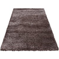 Kusový koberec SHAGGY TOP - hnědo-bílý