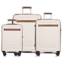 Moderní cestovní kufry STOCKHOLM - bílé