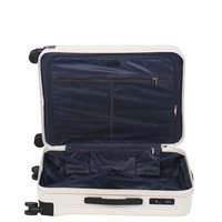 Moderní cestovní kufry VANCOUVER - krémové