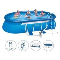 Nadzemní zahradní bazén MAX BLUE 549x305x107 cm