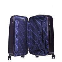 Moderní cestovní kufry NEW YORK - tmavě fialové