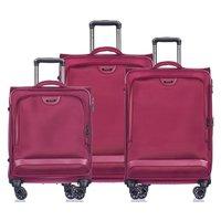 Moderní cestovní kufry COPENHAGEN - červené