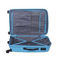 Moderní cestovní kufry MADAGASKAR - světle modré