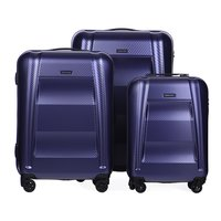 Moderní cestovní kufry NEW YORK - fialové