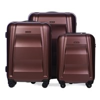 Moderní cestovní kufry NEW YORK - vínové
