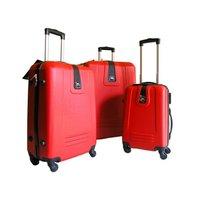 Moderní cestovní kufr RED - červený