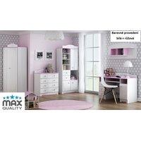 Dětský pokojíček MAGIC - bílá + růžová