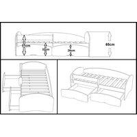 Dětská postel se šuplíky MAGIC 200x90 cm + matrace