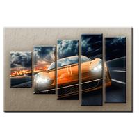 PĚTIDÍLNÝ OBRAZ na plátně CAR - vzor 4