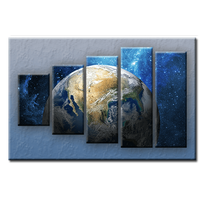 PĚTIDÍLNÝ OBRAZ na plátně ZEMĚ - vzor 9