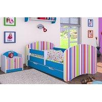 Dětská postel se šuplíkem 180x90cm PROUŽKY