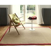 Koberec Asiatic Natural Weaves - SISAL Linen/Red