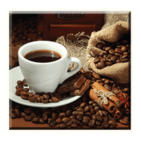 Obraz na plátně 30x30cm COFFEE - vzor 24