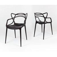 Designová židle ROMA - černá 4