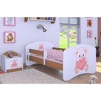 Dětská postel bez šuplíku 160x80cm MEDVÍDEK SE SRDÍČKEM