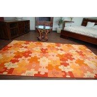 Dětský koberec PUZZLE oranžový