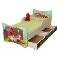 Dětská postel se šuplíkem - Pejsek a kočička