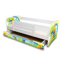 Dětská postel se šuplíkem 160x70 cm - MEDVÍDEK S MEDEM II.