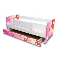 Dětská postel se šuplíkem 160x70 cm - KYTIČKY II.
