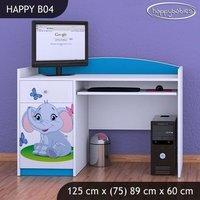 Dětský psací stůl SLON A MOTÝLCI - TYP 4