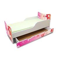 Dětská postel se šuplíky 160x80 cm - KYTIČKY