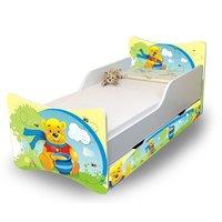Dětská postel se šuplíkem - Medvídek s medem