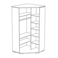Rohová šatní skříň - PINK