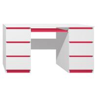 Psací stůl - CITY TYP B - červená