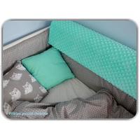 Chránič na dětskou postel MINKY - šedý