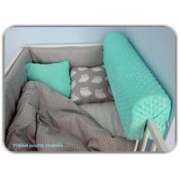 Chránič na dětskou postel MINKY - broskvový