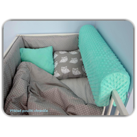 Chránič na dětskou postel MINKY - bílý