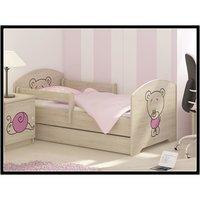 Dětská postel s výřezem MÉĎA - růžová 160x80 cm