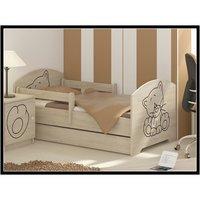 Dětská postel s výřezem KOČIČKA - přírodní 140x70 cm