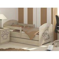 Dětská postel s výřezem PEJSEK - přírodní 140x70 cm