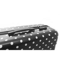 Cestovní kufr PUNTÍKY ČERNÉ HIT