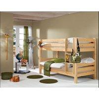 Dětská PATROVÁ postel BARČA 200x90 cm - přírodní