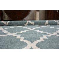 Moderní koberec MAROKO -modrý F343