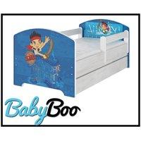 Dětská postel se šuplíkem Disney - JAKE A PIRÁTI 160x80 cm