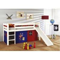 Dětská vyvýšená postel bez věžičky a tunelu