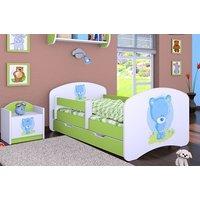 Dětská postel se šuplíkem 140x70cm MODRÝ MEDVÍDEK