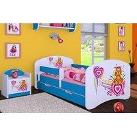 Dětská postel se šuplíkem 140x70cm PEJSEK A SRDÍČKO