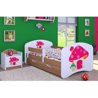 Dětská postel se šuplíkem 140x70cm RŮŽOVÝ HŘÍBEK