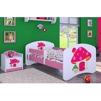 Dětská postel bez šuplíku 140x70cm RŮŽOVÝ HŘÍBEK