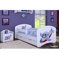 Dětská postel se šuplíkem 140x70cm LETADLO