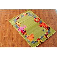 Dětský koberec ZOO zelený