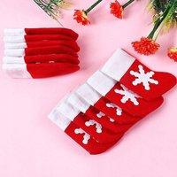 Vánoční ponožka na příbory - 12 ks