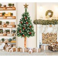 Vánoční stromek - diamantová borovice na dřevěném kmeni 220 cm